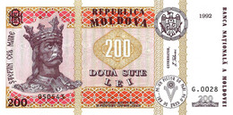 MOLDAVIE 1992 200 Leu - P.16a Neuf UNC - Moldavia