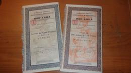 BADIKAHA (1 Action Et 10 Actions) Cote D'ivoire - Zonder Classificatie