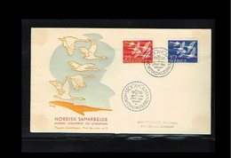 1956 - Europe NORDEN FDC Sweden Mi.416-17 - Issue Magasin - Cancel Stockholm [WK029] - 1956