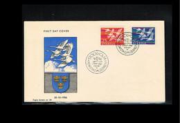 1956 - Europe NORDEN FDC Sweden Mi.416-17 - Issue Foghs - Cancel Stockholm [WK030] - 1956