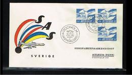 1961 - Europe NORDEN FDC Sweden Mi.467A+DlDr - Cancel Stockholm [WK053] - 1961