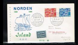 1969 - Europe NORDEN FDC Iceland Mi.426-27 - Issue Fidacos - Cancel Reykjavik [WK069] - 1969