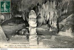D07  SAINT- MARCEL  Intérieur Des Célèbres Grottes De Saint- Marcel  ..... - Andere Gemeenten
