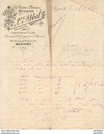 ANCIENNE PHARMACIE GUILLIER L. ABBAL à Béziers .......... CORRESPONDANCE COMMERCIALE DE 1890 - Andere