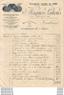 PHARMACIE  MAGNES LAHENS A TOULOUSE   .......... FACTURE DE 1924 - Andere