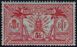 ✔️ Nouvelles Hébrides 1911/1912 - Légende Français  Fil. CA Multiple - Yv. 37 * MH - €20 - Nuevos