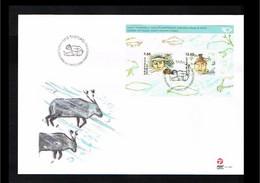 2006 - Europe NORDEN FDC Denmark-Greenland Mi.Block 34 - Issue Post - Cancel Tasiilaq [WM002] - 2006
