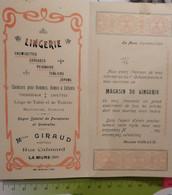 Carte Invitation Ouverture Magasin GIRAUD 1904 à La Mure Isère - Lingerie, ... Rue Calmard - Sin Clasificación