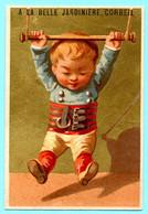 Chromo A La Belle Jardinière Corbeil. Enfant Athlète Gymnastique Trapèze. Imp. Testu Massin 14-12/1 - Autres
