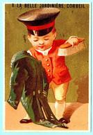 Chromo A La Belle Jardinière Corbeil. Enfant Domestique, Brosse à Habits. Imp. Testu Massin 14-12/3 - Autres