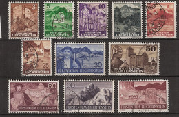 Liechtenstein 1937-1938 MiNr. 156 Etc (Yv 141 Etc) Canceled/gebraucht - Used Stamps