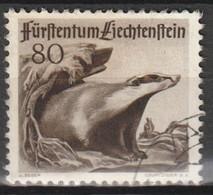 Liechtenstein 1950 MiNr. 287 Dachs - Canceled/used/gebraucht - Used Stamps
