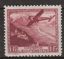 Liechtenstein 1930 Flugpost MiNr. 113 (YT Nr 6) Ungebraucht/MLH/* (almost **) - Air Post