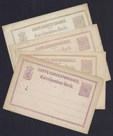 Luxembourg - Luxemburg - Carte-Correspondance - Korrespondenzkarte  1880 - 4 Cartes - Stamped Stationery