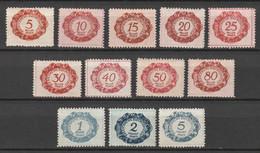 Liechtenstein 1920 Portomarken 01-12 MH* - Nuevos