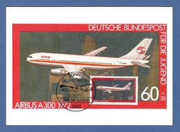 BRD 1980  Mi.Nr. 1042 , Für Die Jugend - Airbus A300 - Maximum Card - Erstausgabetag Bonn 10.04.1980 - Maximum Cards