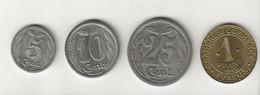 Monnaie De Nécessité De 5 Cent + 10 Cent.+25 Cent.1921 + 1 Franc 1922  / Chambre De Commerce Evreux Par Thevenon - Monetary / Of Necessity