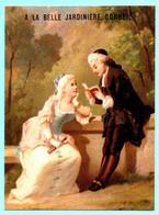 Rare Et Belle Chromo A La Belle Jardinière Corbeil. Jeune Fille Et Son Précepteur. Imp. Testu Massin 24-30/1 - Autres