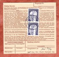Nachnahmepaketkartenteil, Heinemann, Nuernberg Nach Hunoldstal 1972 (488) - Covers & Documents