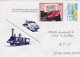 ESC De Seignelay (89) Pour Le Mée-sur-Seine (77) - 10 Septembre 1983 - Timbres YT 1459 & 2252 - Cheminots Philatélistes - 1961-....