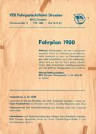 E4743 - Weiße Flotte DDR Fahrgatsschifffahrt Dresden - Fahrplan Elbeschifffahrt - Europe