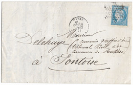 TIMBRES N° 60/1;  LETTRE ENTIÈRE ; GRANDE CASSURE ;142  A2/ 4 ème état ( SANS LA CASSURE DU FILET INF.) RARE TB - 1871-1875 Cérès