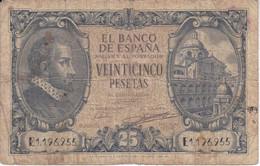 BILLETE DE ESPAÑA DE 25 PTAS DEL AÑO 1940  SERIE E  CALIDAD RC (BANKNOTE) - 25 Pesetas