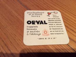 """Sous-bock """"pour L'agrément Et La Santé Buvez ORVAL - Trappiste"""" Bière Belge (poisson) Dos Nu - Bierdeckel"""