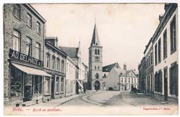 Bree - Kerk En Stadhuis 1908 (Geanimeerd) - Bree