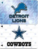 @+ Lot De 2 Cartes MGI - American Football - Detroit Lions And Cowboys - Sport