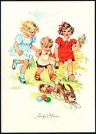 E4797 - TOP Lungers Hausen Glückwunschkarte - Kinder Osterhase - Verlag Carl Werner Reichenbach - Pasqua