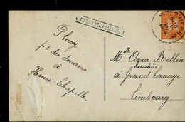 Carte Fantaisie: Obl. VERVIERS  1913  + Griffe De HENRI - CHAPELLE ( Encadrée) - Linear Postmarks