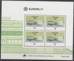 PORTUGAL MADEIRA Block 8, Postfrisch **, Europa CEPT: Moderne Architektur 1987 - Madeira