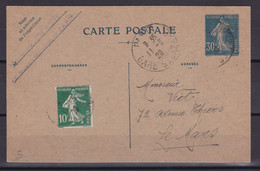 D 244 / ENTIERS POSTAUX / N° 192 CP1 OBL COTE 25€ - Collections