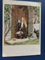Fairy Tale LITTLE RED RIDING HOOD - Old USSR Postcard - 1964 - Vertellingen, Fabels & Legenden