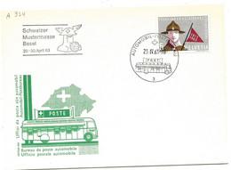 "270 - 41 - Carte PEN Avec Oblit Spéciale ""Schweizer Mustermesse Basel 1963"" - Marcofilie"