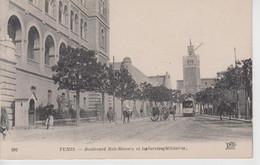 CPA Tunisie - Tunis - Boulevard Bab-Menara Et Le(s) Service(s) Militaire(s) - Túnez