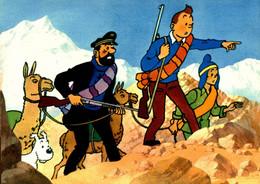 G2811 - Tintin Et Le Temple Du Soleil - Tintin - Haddock Et Zorrino Avec Les Lamas - Cómics