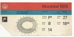 BIGLIETTO OLIMPIADI MONTREAL 1976 FOOTBALL - Sin Clasificación