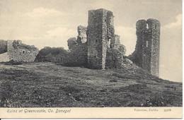 IRELAND - Ruins At Greencastle, Co. Donegal, Ireland, Valentine Dublin 33186 (L99) - Dublin
