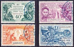 Guadeloupe 1931 Exposition Coloniale De Paris Série Complète Yv. 123-126 Oblitéré O - Oblitérés