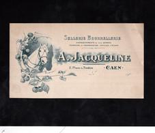 CAEN - Illustré CHEVAL - SELLERIE BOURRELLERIE - A.JACQUELINE (voir Descriptif) - Altri