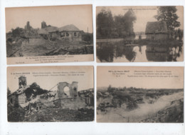 6 Cartes -    Feuilleres   - Somme 80  - - Otros Municipios