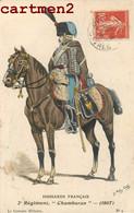 "NIORT FETES DE CHARITE NIORTAISES "" 995 "" 1909 HUSSARDS FRANCAIS 2e REGIMENT "" CHAMBORAN "" 1807 Guerre - Niort"