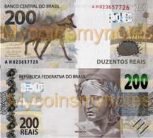 BRAZIL, 200 REAIS, 2020, Serie AH, P-New (Not Yet In Catalog), New Signature, UNC - Brasil