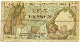 "FRANCE - 100 Francs - 21.9.1939 - P 94 - Serie K.1424 - "" Sully "" - 100 F 1939-1942 ''Sully''"