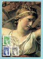 Carte Maximum 1979 - Sabine De Gandon 1979 - YT 2056 - 2057 Et 2058 - Paris - 1970-79