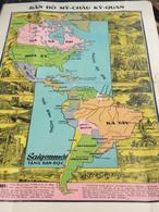 MAP SOUTH VIET NAMVIETNAM Ancient Tourist Map(THE NATION MY CHAU-VẠN VẬT KỲ QUAN.)-1psc - Other