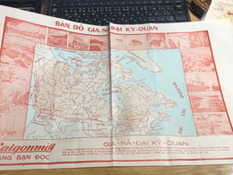 MAP SOUTH VIET NAMVIETNAM Ancient Tourist Map(THE NATION GIA NA DAI-VẠN VẬT KỲ QUAN.)-1psc - Other