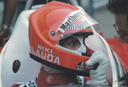 Niki Lauda In 1976 Ferrari Car Grand Prix Team F1 Rare Postcard - Zonder Classificatie